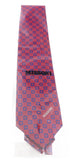 Missoni Square Red/Blue Woven 100% Silk Tie at