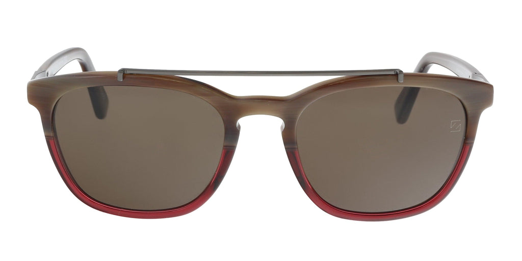 Ermenegildo Zegna EZ0044/S 65J Burgundy Square Sunglasses at 76.18