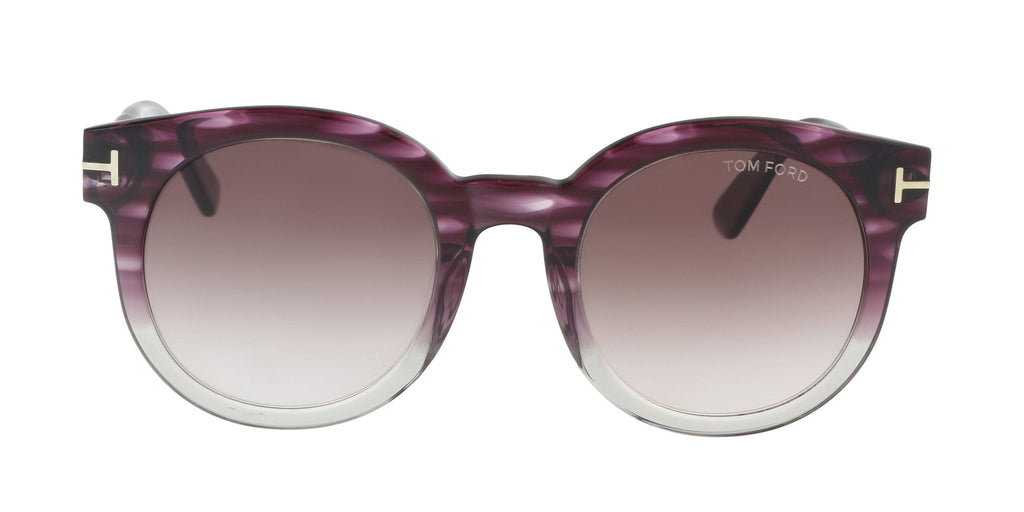 Tom Ford  Purple/Gray Round Sunglasses