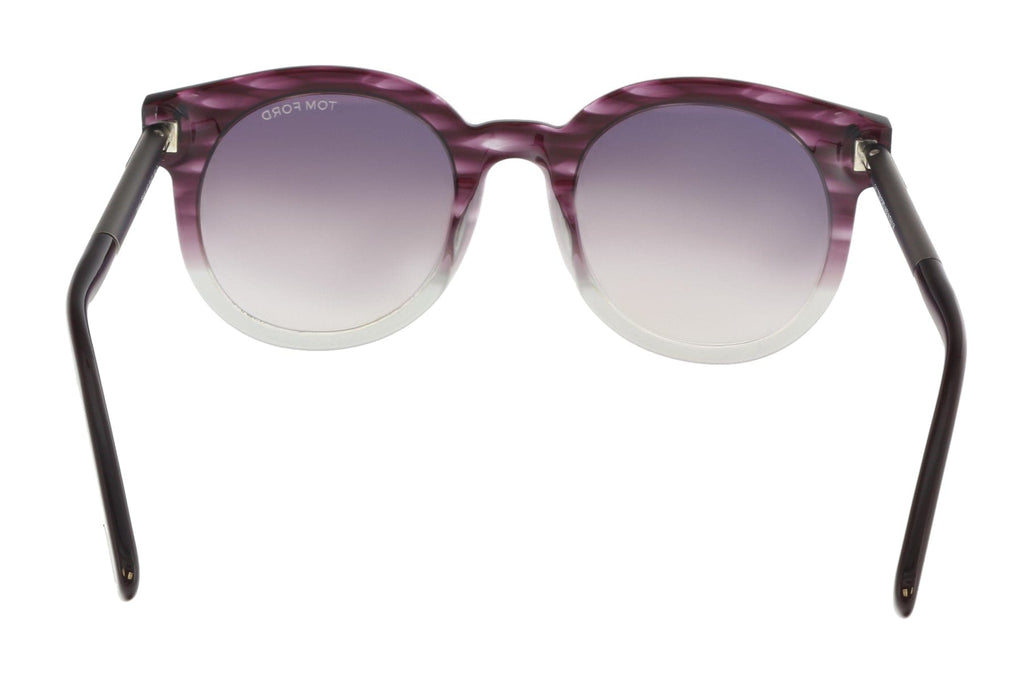 Tom Ford FT0435 83T JANINA Purple/Gray Round Sunglasses