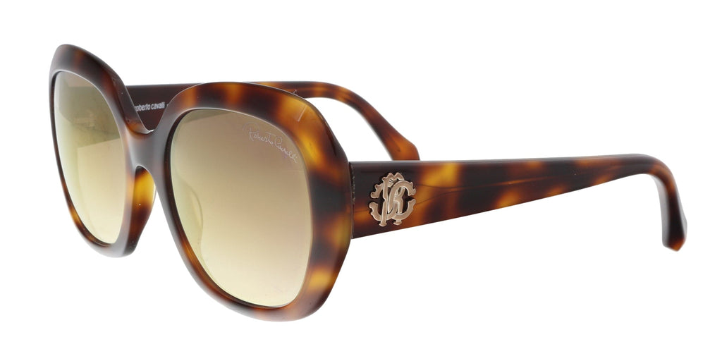 Roberto Cavalli  Medium Havana Round Sunglasses