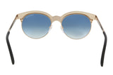 Tom Ford FT0438 5305P ANGELA Black/Gold Round Sunglasses