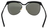 MCM MCM105S 001 Shiny Black    Tea Cup Sunglasses at