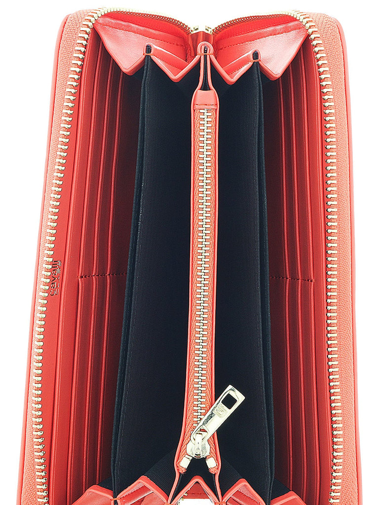 Class Roberto Cavalli Coral Audrey Long Size Wallet W/Zipper at