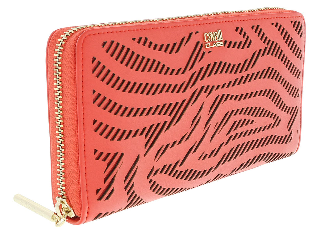 Class Roberto Cavalli Coral Audrey Long Size Wallet W/Zipper at 128.56