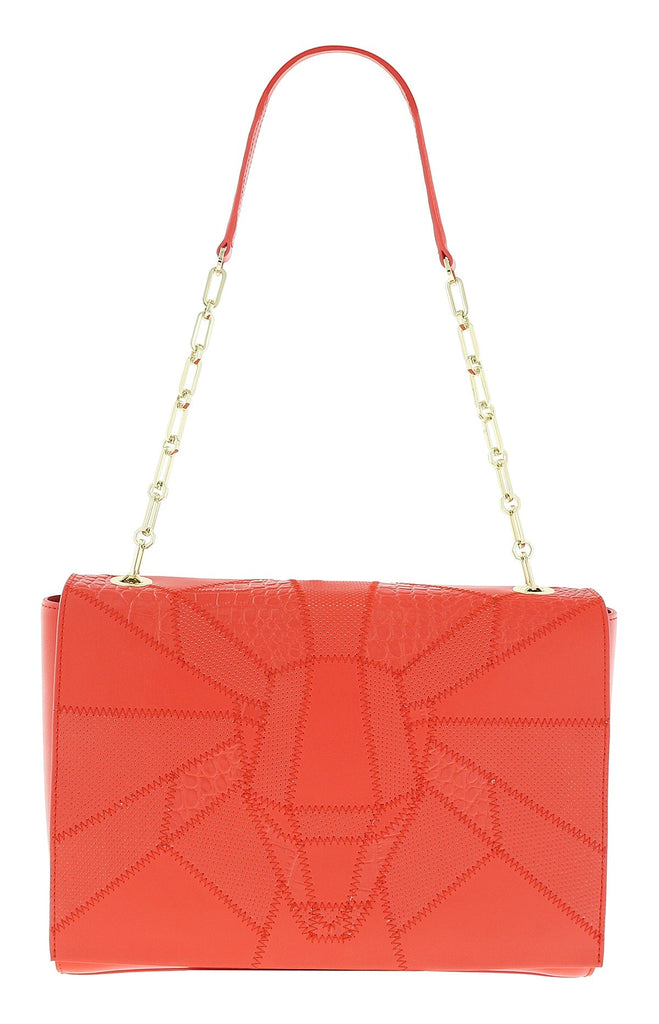 Roberto Cavalli  Class Elisabeth Coral Medium Shoulder Bag at