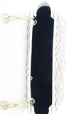 Roberto Cavalli GQLPA0 B20 White/Black Audrey Medium Shoulder Bag at