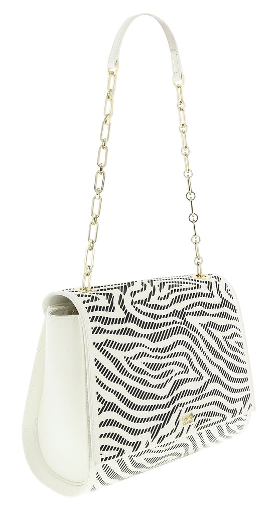 Roberto Cavalli GQLPA0 B20 White/Black Audrey Medium Shoulder Bag at 242.26