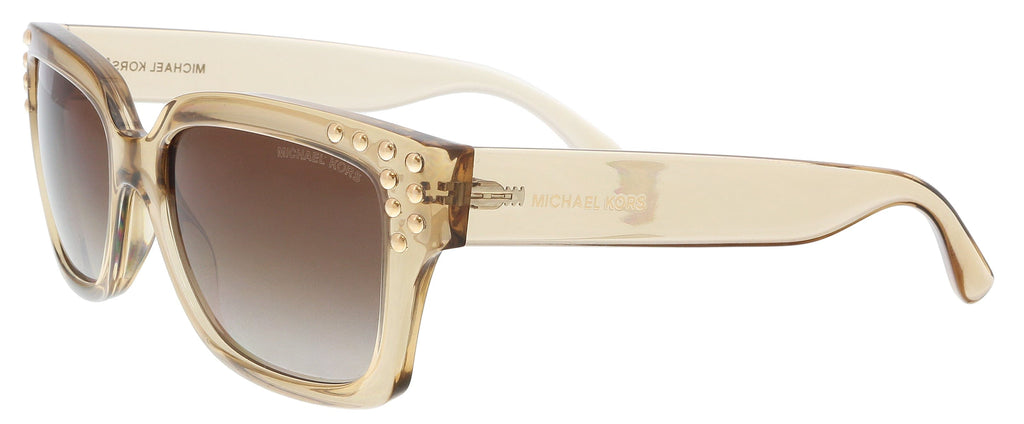 Michael Kors MK2066 334313 Light Brown Crystal Rectangle Sunglasses at 66.66