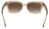 Michael Kors MK2066 334313 Light Brown Crystal Rectangle Sunglasses at