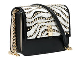 Roberto Cavalli Class GWLPCM 999 Milano Rmx 0 Black/White Medium Shoulder Bag at 294.65