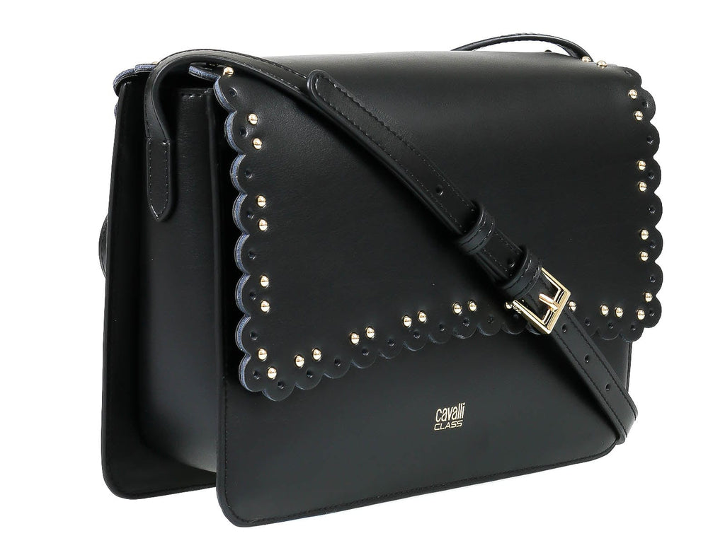 Roberto Cavalli Class GWLPEZ 999 Leolace 003 Black Shoulder Bag at 210.71