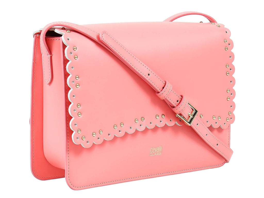 Roberto Cavalli Class GWLPEZ 045 Leolace 003 Peach Shoulder Bag at 210.71