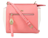Roberto Cavalli Class GWLPD4 T35 Brigitte 00 Peach/Ivory Small Shoulder Bag at