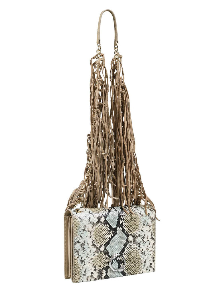 Roberto Cavalli Class GWLPEW T41 Lauren 002 Light Blue/White/Taupe Medium Shoulder Bag at 332.14