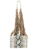 Roberto Cavalli Class GWLPEW T41 Lauren 002 Light Blue/White/Taupe Medium Shoulder Bag at