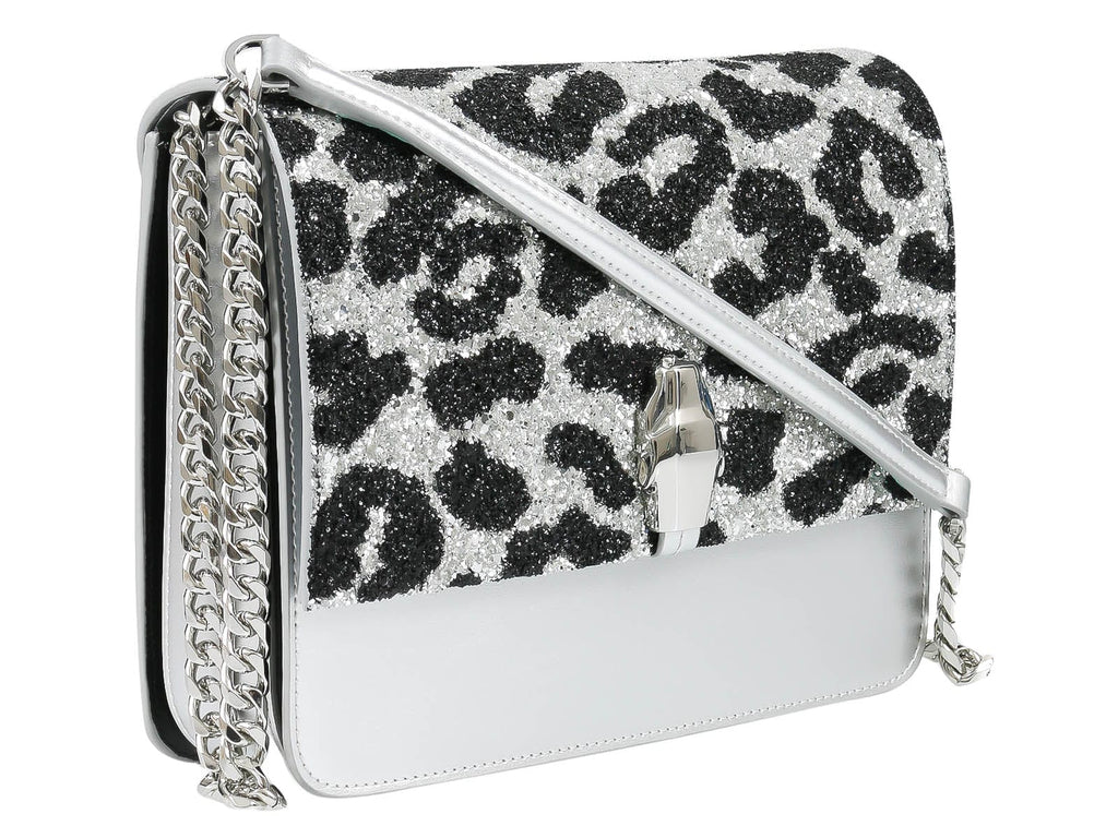 Roberto Cavalli Class GWLPCF G25 Milano Rmx 00 Silver/ Black Large Shoulder Bag at 294.65