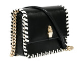 Roberto Cavalli Class GWLPCK B01 Milano Rmx 0 Black/White Medium Shoulder Bag at 294.65