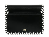 Roberto Cavalli Class GWLPCK B01 Milano Rmx 0 Black/White Medium Shoulder Bag at