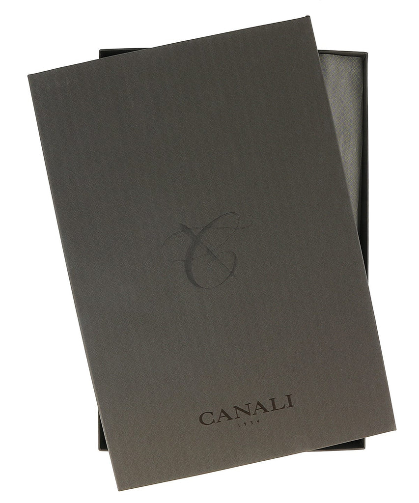 Canali Blue Weave Formal Shirts at