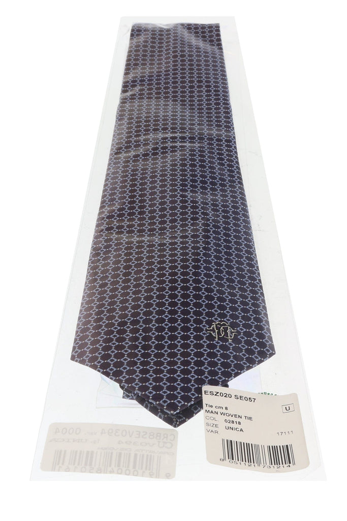 Roberto Cavalli ESZ020 02818 Purple/ Blue Micro Geometric Tie at
