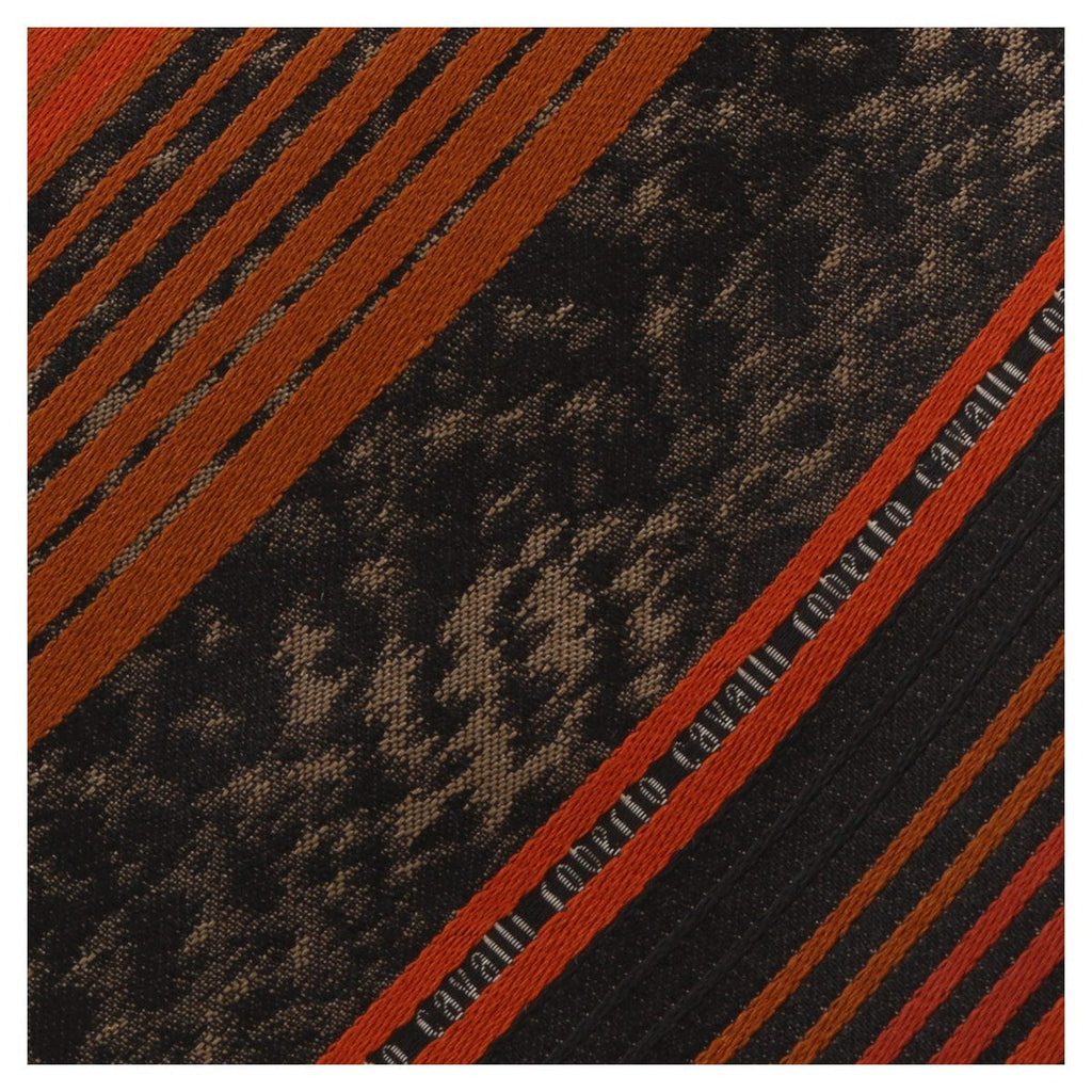 Roberto Cavalli ESZ039 01500 Orange Regimental Stripe Tie at
