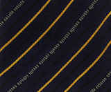Roberto Cavalli ESZ042 D1564 Navy Blue/ Yellow Regimental Stripe Tie at