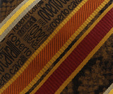 Roberto Cavalli ESZ044 D1431 Mustard/ Red Regimental Stripe Tie at