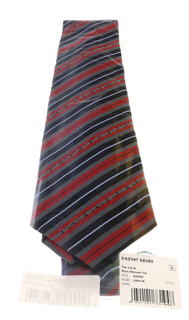 Roberto Cavalli ESZ047 02000 Red Regimental Stripe Tie at