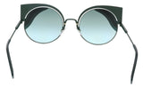 FENDI FF 0215/S  00KC- EQ Teal Cat eye Sunglasses at