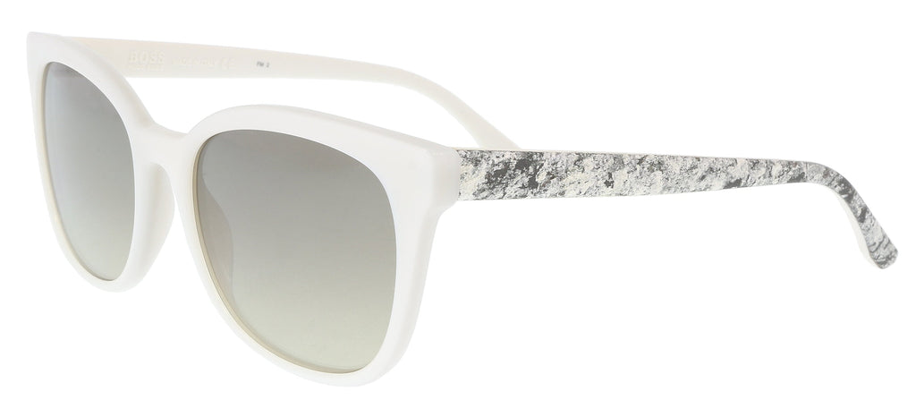 BOSS 0893/S 01GP- 6P White Square Sunglasses at