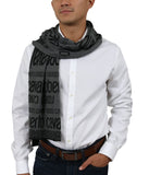 Roberto Cavalli ESZ064 LU053 Grey/ Black Wool Blend Mens Scarf at 38.09