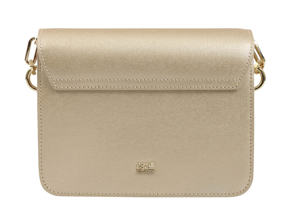 Roberto Cavalli HXLPAY F92 Gold/White Shoulder Bag at