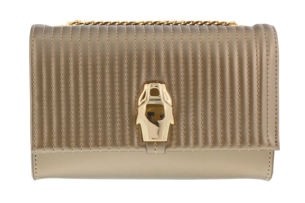 Roberto Cavalli HXLPDN 102 Bronze Shoulder Bag at
