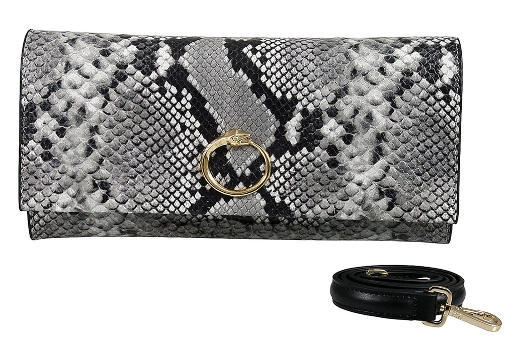 Roberto Cavalli HXLPDM 001 Grey Shoulder Bag at