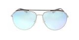 Prada PS55RS QFP5QO Silver Aviator Sunglasses at