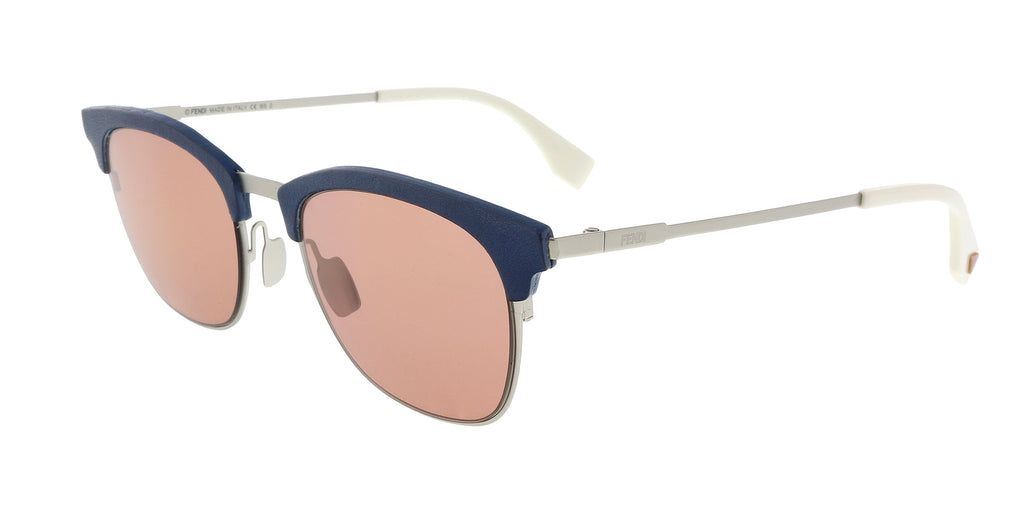 Fendi FF0228/S 0J2B Silver Red Rectangle Sunglasses at 95.23