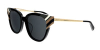 MCM MCM105S 001 Shiny Black    Tea Cup Sunglasses