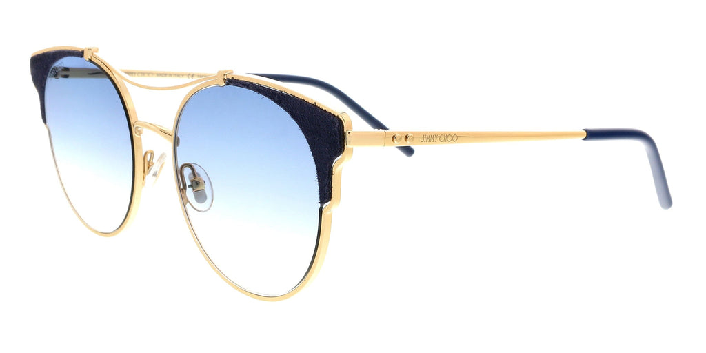 Jimmy Choo LUE/S 0LKS Gold/Blue Cat Eye Sunglasses at 180.94