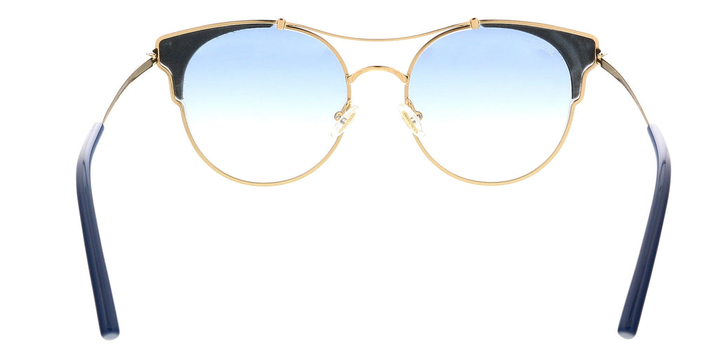 Jimmy Choo LUE/S 0LKS Gold/Blue Cat Eye Sunglasses at