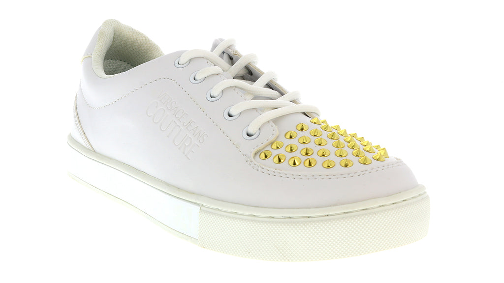 Versace Jeans Couture KIM White/Gold Sneakers-Size:6.5-7