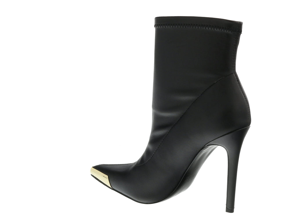 Versace Jeans Couture Black  Christy Coated Mesh High Heel Ankle Boots-