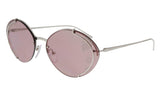 Prada 0PR 60US 1BC239 Silver Oval Sunglasses at 133.32