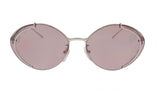 Prada 0PR 60US 1BC239 Silver Oval Sunglasses at