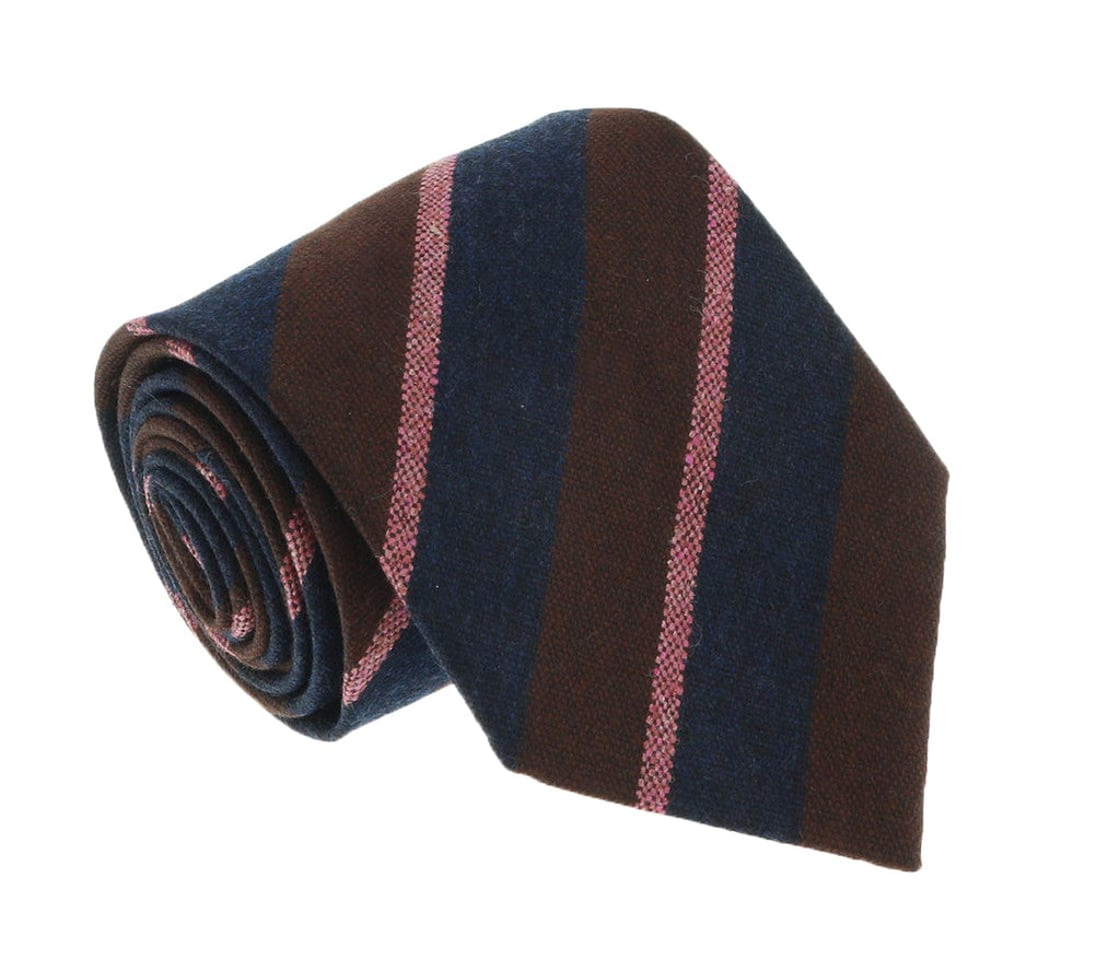 Missoni U5121 Burgundy/Pink Repp 100% Silk Tie at 43.80