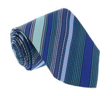 Missoni U8013 Blue/Green Pencil Stripe 100% Silk Tie at 43.80