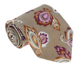Missoni U1452 Khaki/Purple Chinoiserie 100% Silk Tie at 43.80