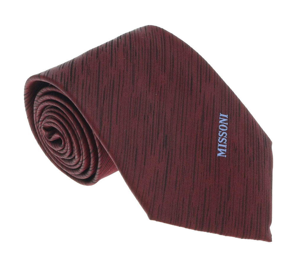 Missoni U5573 Wine/Black Pencil 100% Silk Tie at 43.80