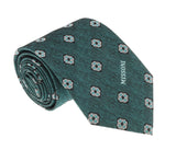 Missoni U5576 Green/Silver Geometric 100% Silk Tie at 43.80