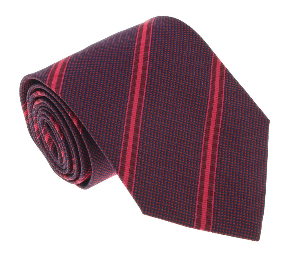 Missoni U4542 Red Regimental 100% Silk Tie at 43.80